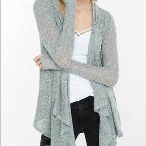 Express one eleven drape front hooded cover up